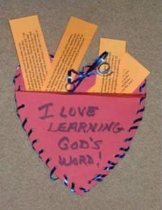 heart pocket sunday school craft