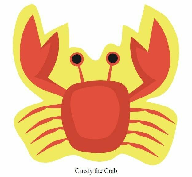Crusty the Crab printable