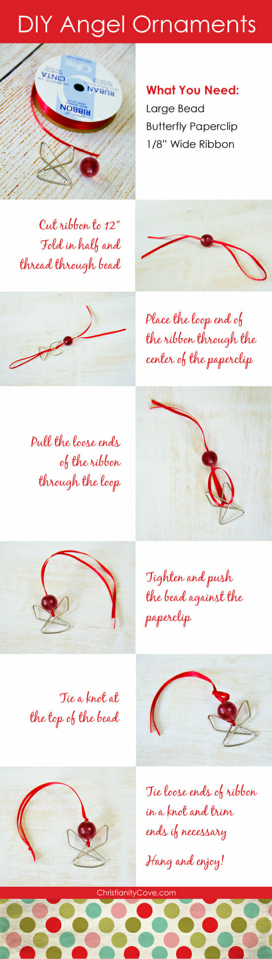 Paperclip Angel Christmas Ornament