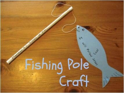 fishing pole church craft