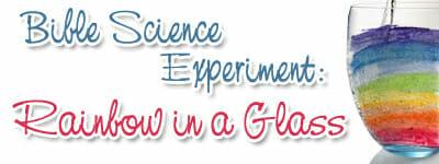 Bible Science Experiment - Rainbows