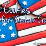 flag cookies from grhaam crackers