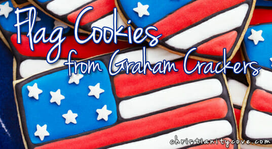 Bible Snack: Flags from Graham Cracker Cookies