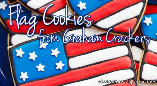 flag cookies from grhaam crackers