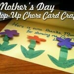 Mother's Day Craft: Mother's Day Chore Pop-Up Cards