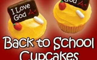 bible snack back to school cupcakes
