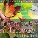 childrens church activity leaf bouquests