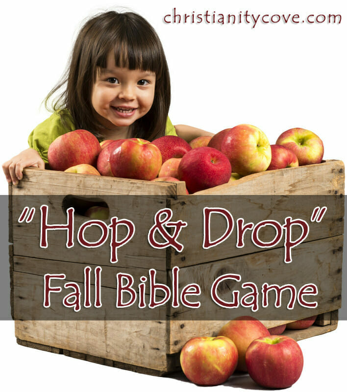 fall bible game hop and drop