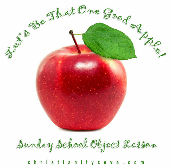 good apple sunday school object lesson fall bible activities