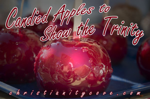fall bible snack candied apples