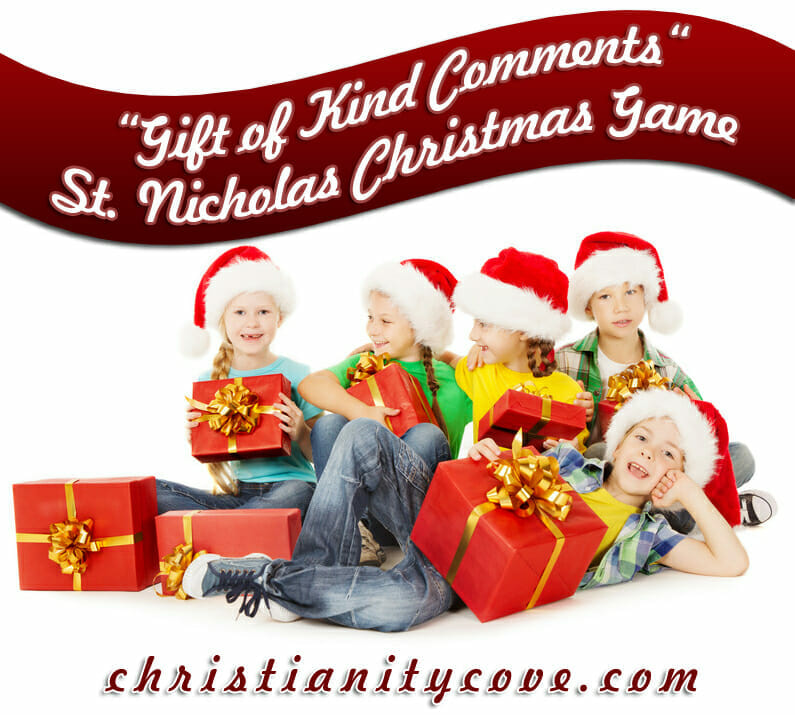 """Gift of Kind Comments"" St. Nicholas Christmas Game"