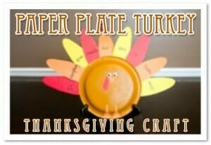 paper plate turkey thanksgiving craft