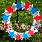 patriotic star wreath