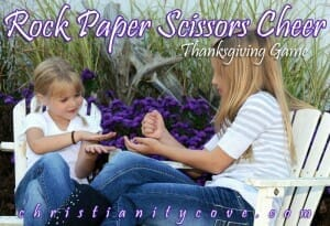 rock paper scissors cheer thanksgiving game