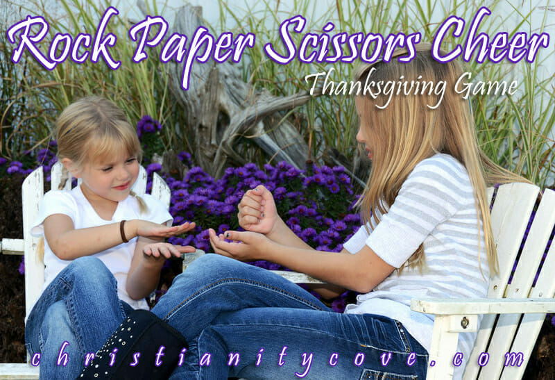 Rock, Paper, Scissors, Cheer Thanksgiving Game
