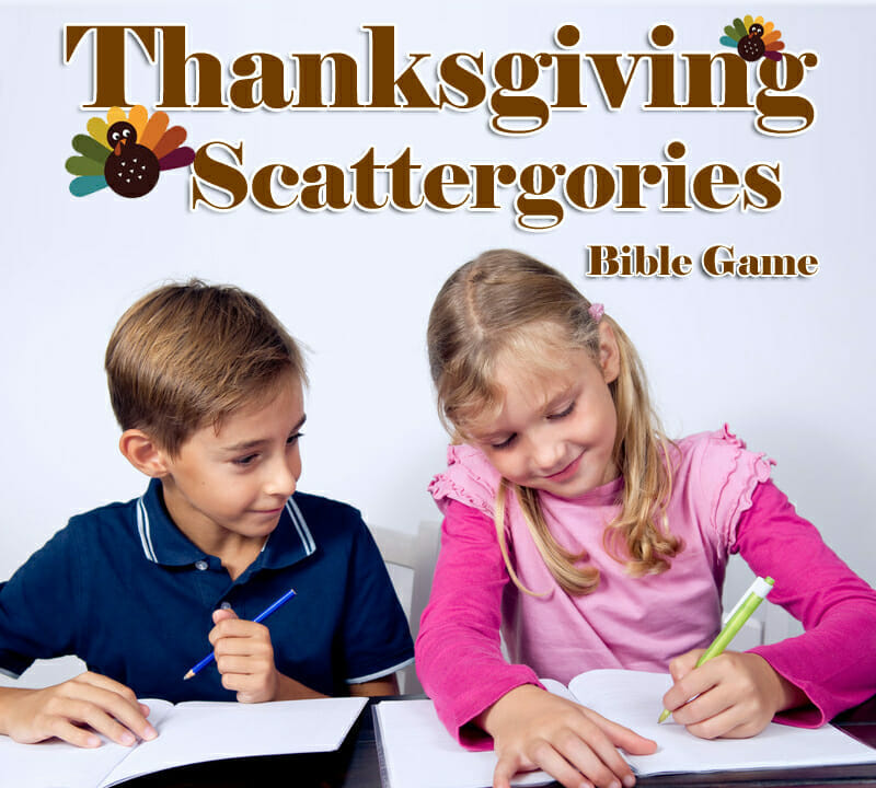 """Scattergories"" Thanksgiving Bible Game"