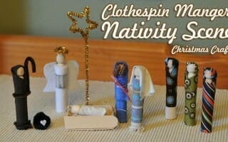 Clothespin Manger Nativity Scene Christmas Craft