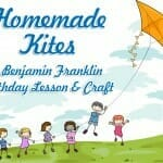 homemade kites ben franklin craft