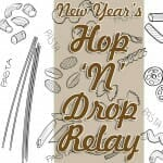 """New Year's Sunday School Game: Pasta Hop """"˜N' Drop Relay"""