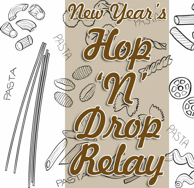 "New Year's Sunday School Game: Pasta Hop ""˜N' Drop Relay"