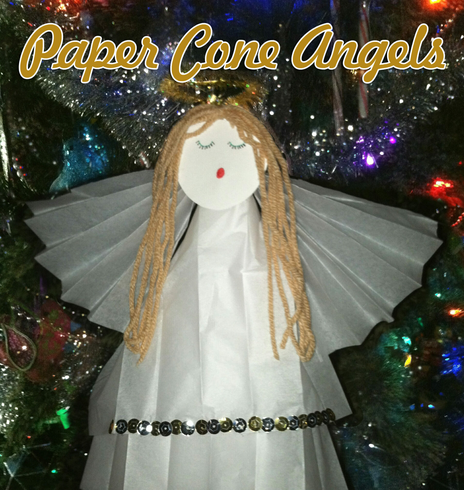 Paper Cone Angels Christmas Craft