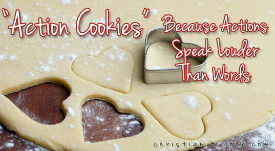 """Action"" Valentines Day Cookies – Because Actions Speak Louder Than Words"