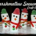 marshmallow snowmen bible craft
