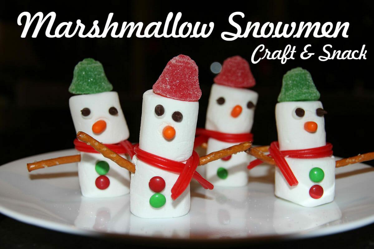 bible craft u0026 snack marshmallow snowmen