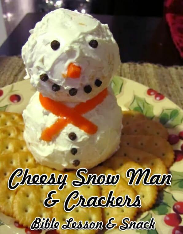 snowman bible snack