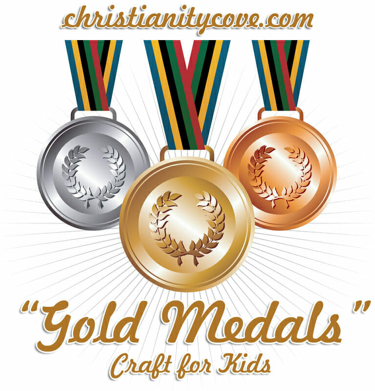 """Gold Medals"" Olympics Craft for Kids! - Christianity Cove"