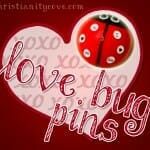 """Love Bug Pins"" Valentines Day Craft"