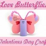 love butterflies valentines day craft