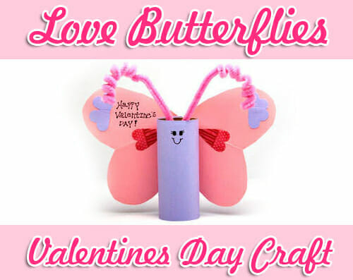 love butterflies valentines day craft