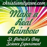 make a real rainbow st patricks day science experiment