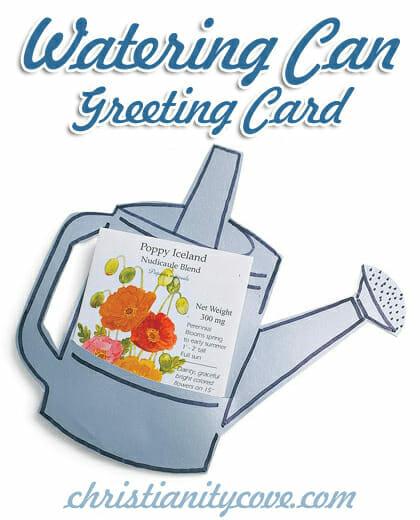 Daylight Savings & Spring Craft: Watering Can Greeting Card