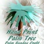 """Hand Print Palm Tree"" Palm Sunday Craft"