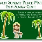 palm sunday craft place mat