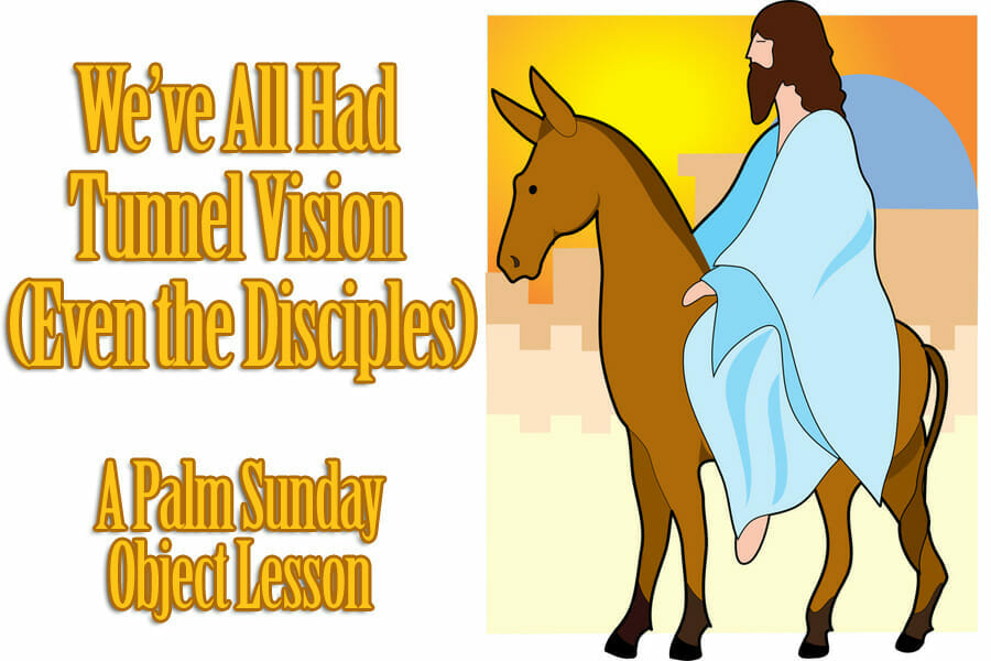 palm sunday lesson tunnel vision