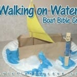 """Walking on Water"" Boat Bible Craft"