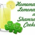 Homemade Lemonade & Shamrock Cookies (Trinity Lesson/Snack)