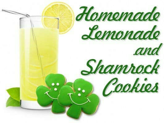 homemade-lemonade-and-shamrock-cookies-trinity-lesson