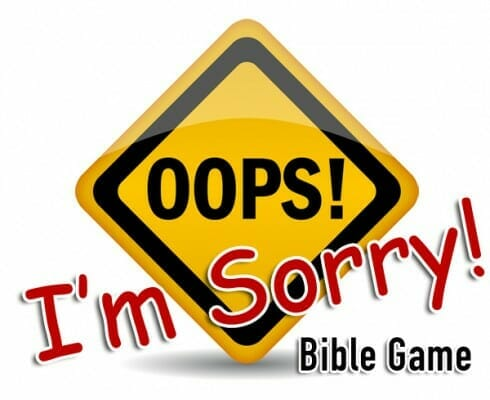 """Oops, I'm Sorry!"" Relay Bible Game"