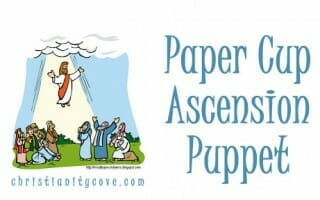 paper cup ascension puppet