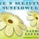 Love N Scripture Sunflower Father's Day Craft