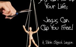Sins Can Tie Up Your Life; Jesus Can Clip You Free!