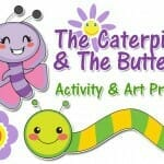 caterpillar and butterfly art project