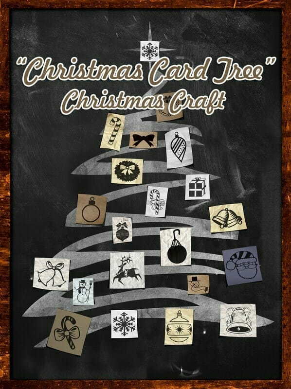 """""""Christmas Card Tree"""" Christmas Craft from Recycled Cards"""