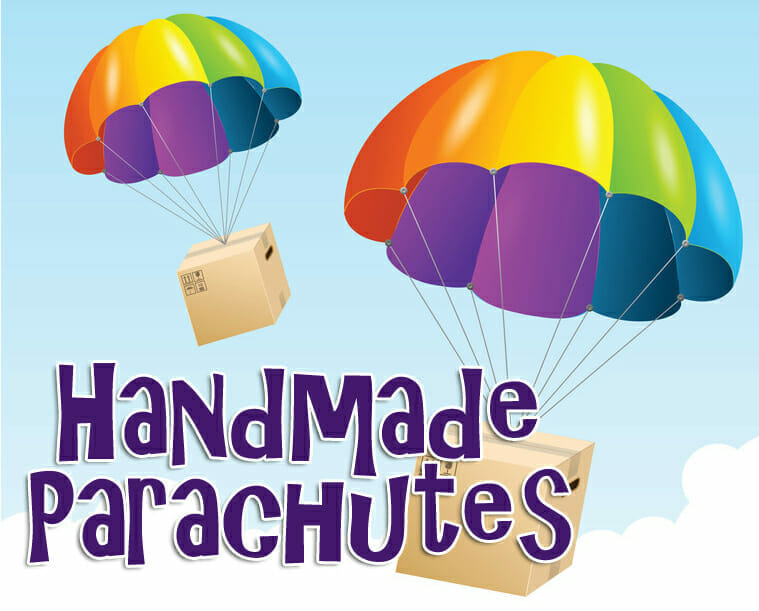 Handmade Parachutes Craft & Science Experiment
