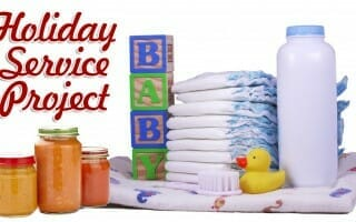 Holiday Service Project: Needs for Essential Baby Care Items are Great at the Holidays