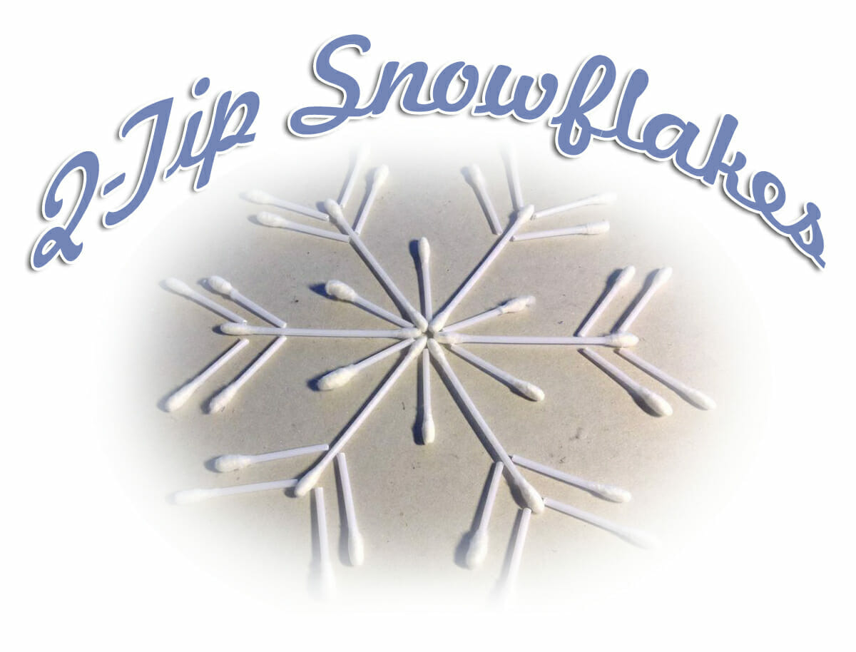 Q-Tip Snowflakes Winter Bible Craft & How God Makes Everyone Different